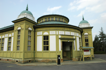 INUYAMA, JAPAN-23 APR, 2018: Exhibition of old post office at Meiji Mura theme park in Inuyama