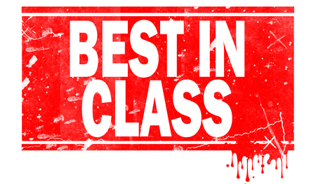 Best in class word in red frame, 3D rendering Stock fotó