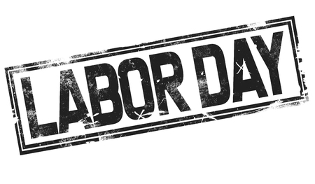 Labor day word with black frame, 3D rendering