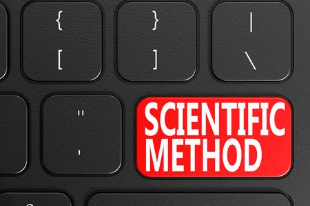 Scientific Method on black keyboard, 3D rendering
