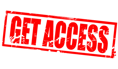 Get access word in red frame, 3d rendering Stok Fotoğraf