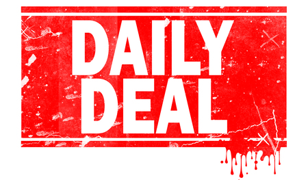 Daily deals word in red frame, 3D rendering Imagens