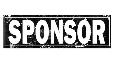 Sponsor word with black frame, 3D rendering
