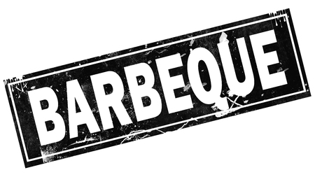 Barbeque word with black frame, 3D rendering Stock fotó - 111228267