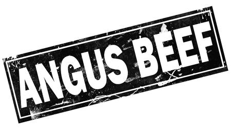 Angus beef word with black frame, 3D rendering Banco de Imagens