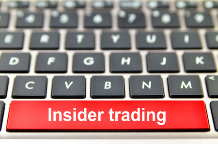 Insider trading word on computer keyboard, 3D rendering 스톡 콘텐츠