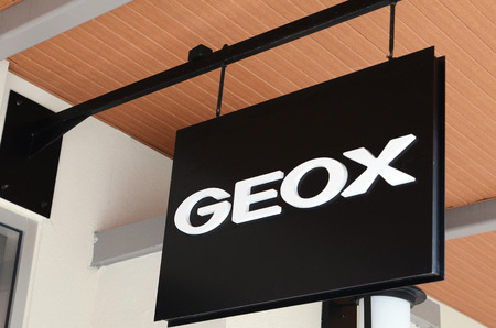 GENTING HIGHLANDS, MALAYSIA- DEC 03, 2018 : GEOX store in Genting Highlands Premium Outlet, Malaysia. Geox is an Italian brand of shoe and clothing manufacturer.