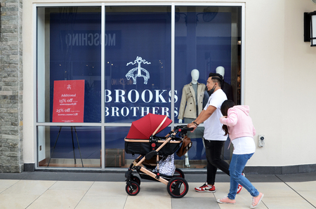 GENTING HIGHLANDS, MALAYSIA- DEC 03, 2018 : Brooks Brothers fashion store at Genting Highlands, Malaysia. Brooks Brothers is one of oldest clothes store chains in the USA founded in year 1818.