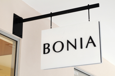 GENTING HIGHLANDS, MALAYSIA- DEC 03, 2018 : Bonia store at Genting Highlands Premium Outlets, Malaysia. Bonia offers wide range of leather goods including leather handbags, footwear and accessories for both ladies and gentlemen
