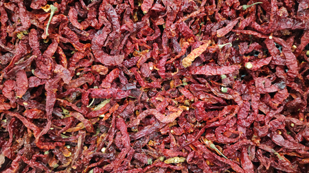 Dried red chilli as a texture food background