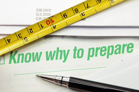 Know why to prepare printed on a book. Business concept 스톡 콘텐츠