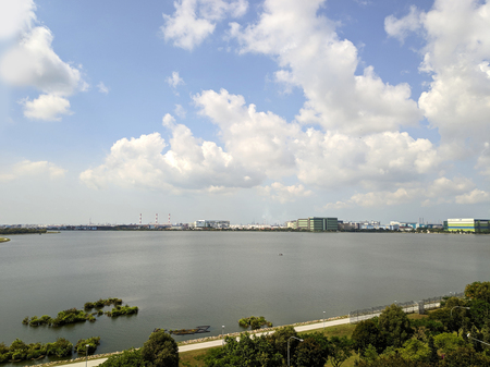 View of Pandan reservoir in Singapore. Pandan Reservoir is a reservoir located in the West Region of Singapore