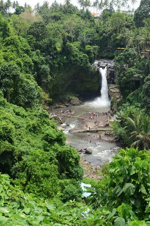 View of Tegenungan Waterfall near Ubud in Bali, Indonesia