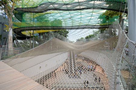 SINGAPORE, 11 Apr, 2019: View of Manulife Canopy Park located inside the Jewal Changi Airport in Singapore. Editorial