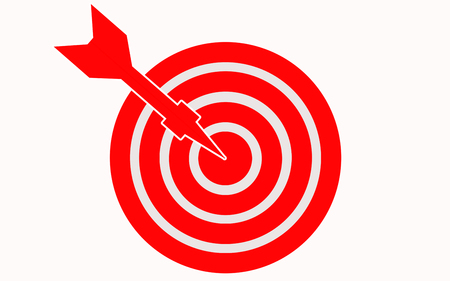 Arrow on target with white background, 3D rendering Reklamní fotografie