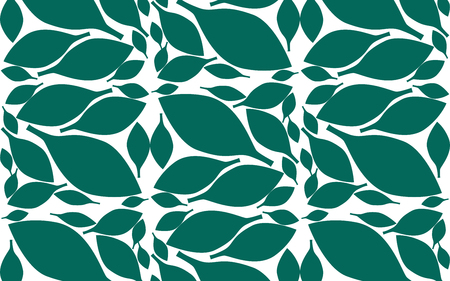 Leaves pattern with endless background, 3D rendering