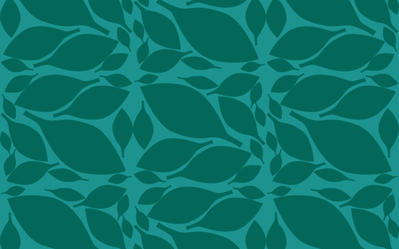 Leaves pattern with blue endless background, 3D rendering Фото со стока