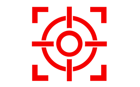 Target icon in modern design style, 3D rendering