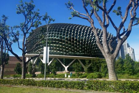 Singapore- 29 Jul, 2019: Esplanade theaters on the bay with blue sky in Singapore