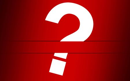 Question mark with red background, 3D rendering