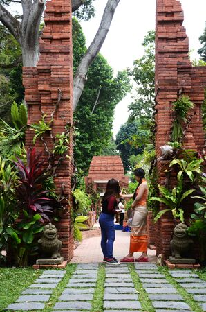 Singapore- 11 Aug, 2019: The newly opened Sang Nila Utama Garden in Fort Canning Park, Singapore. It is one of the nine newly opened themed gardens in the park.