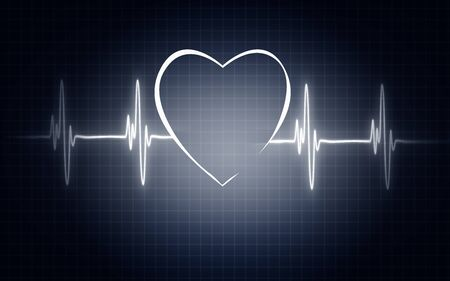 Illustration of life line forming heart shapel, 3D rendering Stock Photo