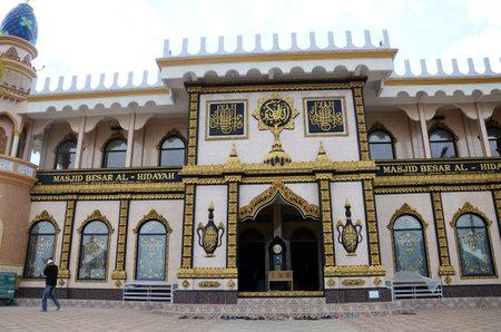 Bali, Indonesia- 18 Oct, 2019: View of Masjid Besar Al Hidayah located new Lake Beratan in Bali, Indonesia. Editorial