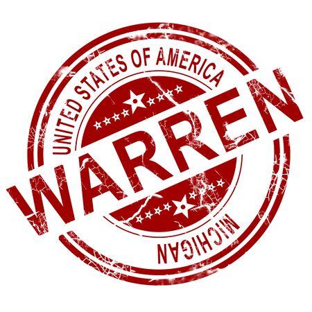Warren rouge avec fond blanc, rendu 3D