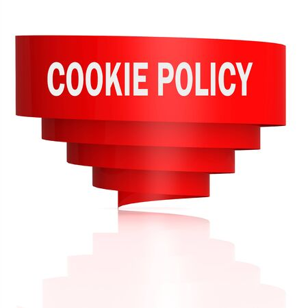 Cookie policy word with curve banner, 3D rendering Stock fotó - 133443378