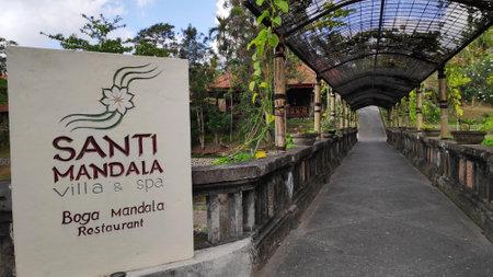 Bali, Indonesia- 18 Oct, 2019: Santi Mandala Villa & Spal ocated on the outskirts of Ubud. Bali.