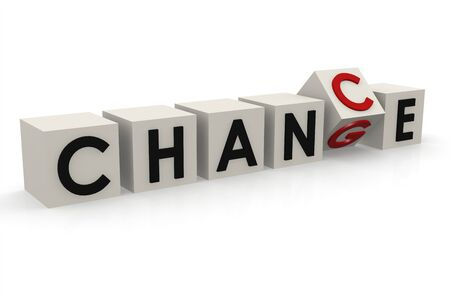 Change to chance puzzle, 3D rendering
