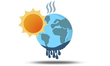 Melting of planet earth. Global warming concept. 3d rendering Stock Photo