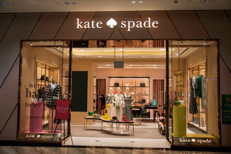SINGAPORE, 24 Jul, 2020: Entrance to Kate Spade store in Jewel Changi Airport. Jewel Changi Airport is a nature-themed entertainment and retail complex on the landside of Changi Airport Editorial