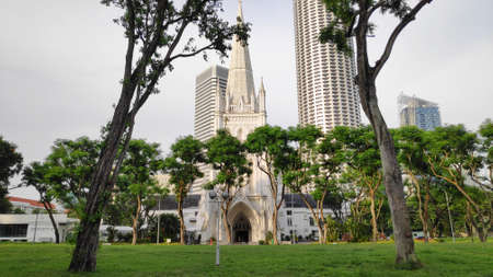 Singapore, 08 Nov, 2020: St Andrew Cathedral in Singapore, it is one of famous ancient church, tourist attraction in Singapore