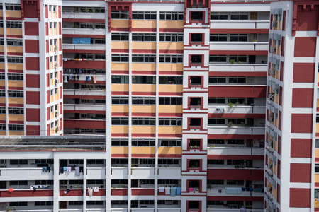 Singapore- 14 Nov, 2020: Singapore residential housing estate with apartment blocks in Choa Chu Kang. Choa Chu Kang is a planning area and residential town located at the north-west of Singapore