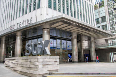 Singapore- 20 Nov, 2020: View of Singapore Exchange Limited located in Singapore. SGX Centre is a twin tower high-rise complex in the city of Singapore