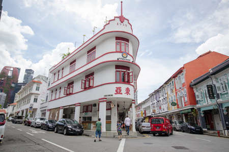 Singapore- 20 Nov, 2020: Potato Head building in Chinatown, Singapore. Chinatown is a subzone and ethnic enclave located in the Central Area of Singapore.
