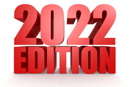 Edition 2022 word with isolated background, 3d rendering Reklamní fotografie