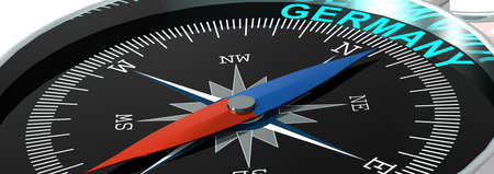Compass needle pointing to word Germany, 3d rendering Reklamní fotografie