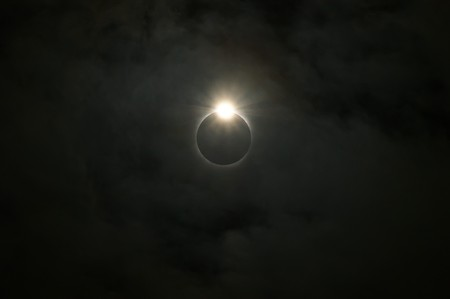 The moon eclipses the sun. photo