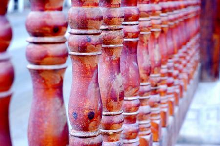 wooden railings: wooden railings