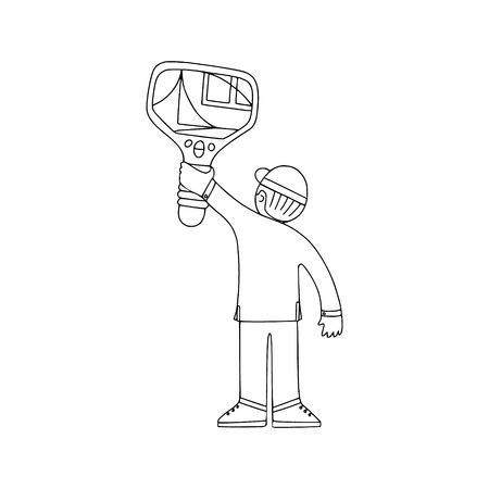 Energy audit technicians working in a doodle style. Illustrations for specialized home energy audit services sites, promomaterials and brochures.