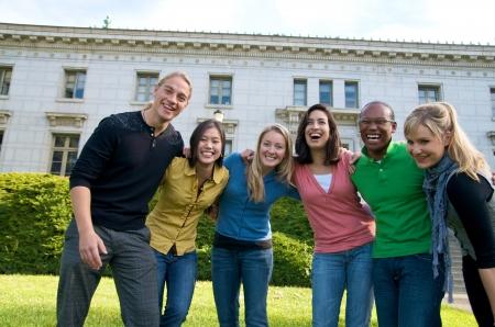 onderwijs: Groep van multiculturele studentengroep