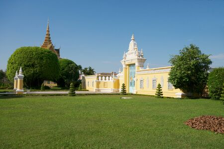 penh: The gate of Royal Palace at Phnom Penh, Cambodia