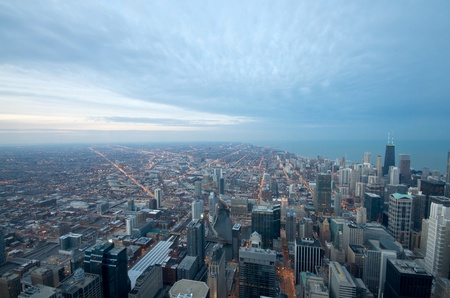 Sears Tower View on Chicago Downtown Winter Stock Photo - 14639099