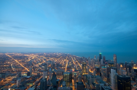 the sears tower: Sears Tower View on Chicago Downtown Winter