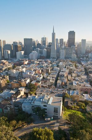 coit: San Francisco skyline captured from Coit Tower.