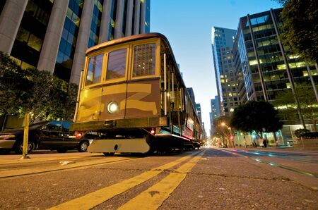Cable car station at the Embarcadero in downtown San Francisco