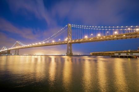 San Francisco Bay Bridge view from Embarcadero   photo