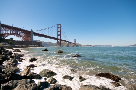 Beach section at the Golden Gate Bridge in San Francisco Stock Photo - 14642316